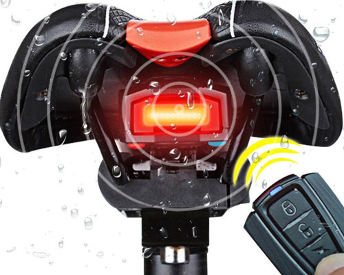 Antushi 3 in 1 Bicycle Wireless Rear Light Cycling Remote Control Alarm