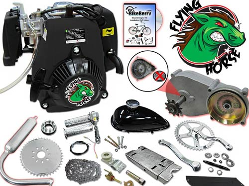 49cc Flying Horse 5G Pull Start Bicycle Engine Kit- 4 Stroke