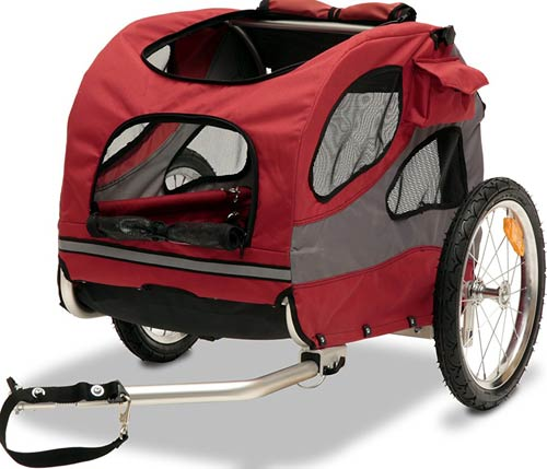PetSafe Solvit HoundAbout Aluminum or Steel Bike Trailer for Dogs